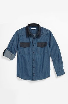 Little Marc Jacobs Chambray Shirt (Big Boys)