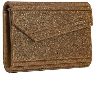 Jimmy Choo gold glitter resin 'Candy' convertible clutch