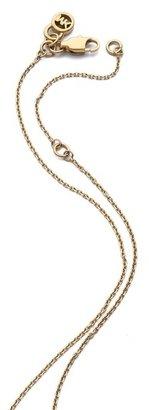 Michael Kors Pave Horn Pendant Necklace