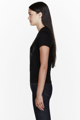 Comme des Garcons Black Jersey Tonal logo print T-Shirt