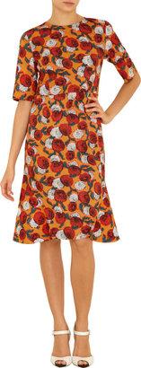 Marni Floral Print Elbow Sleeve Dress