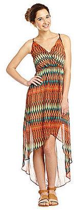 Miss Me Chevron Hi-Low Dress