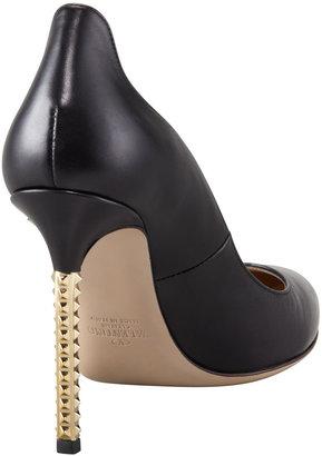 Valentino Rockstud Studded-Heel Napa Pump, Black