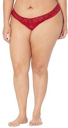 Hanky Panky Plus Size Signature Lace Original Rise Thong (French Bordeaux) Women's Underwear