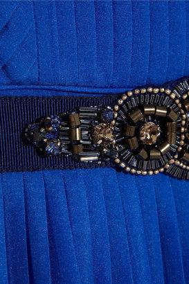 Matthew Williamson Pleated stretch-silk chiffon dress