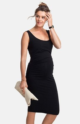 Women's Isabella Oliver 'Ellis' Side Ruched Maternity Tank Dress $139 thestylecure.com