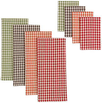 Harvest Check 8-pc. Dish Towel and Dishcloth Set
