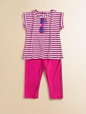 Little Ella Infant's Striped Tunic & Leggings Set