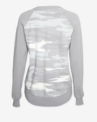 Exclusive for Intermix Camo Sweatshirt: Grey