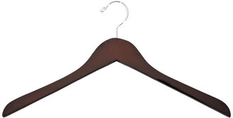 Container Store Case of 36 Basic Shirt Hangers Walnut