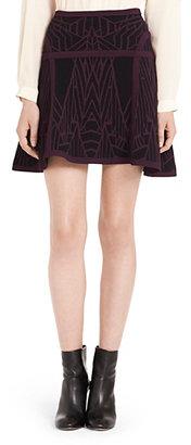 Diane von Furstenberg Flote Super Stretch Fit and Flare Knit Skirt