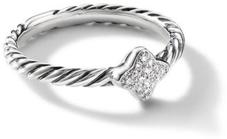 David Yurman Quatrefoil Ring with Diamonds