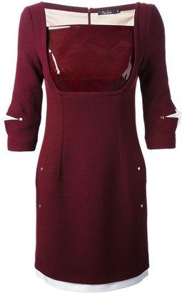 Marios Schwab pvc panel fitted dress