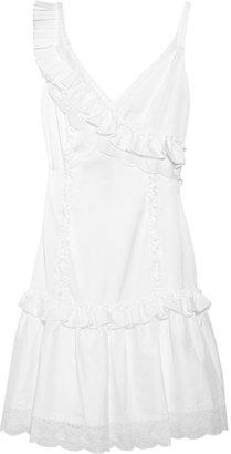 ALICE by Temperley Nina ruffled cotton-blend dress