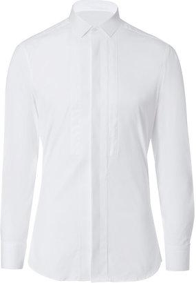 Neil Barrett Cotton-Blend Tuxedo Shirt in White