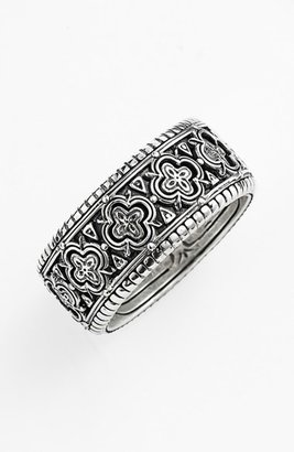 Men's Konstantino 'Classics' Clover Etched Ring $250 thestylecure.com
