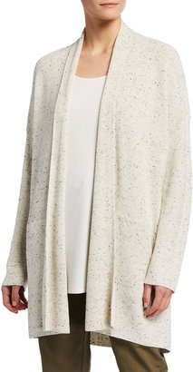 Eileen Fisher Speckled Organic Cotton Cardigan