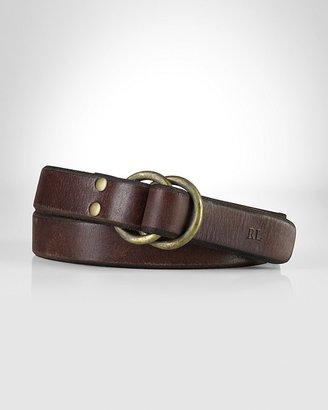 Polo Ralph Lauren Leather Studded O-Ring Belt