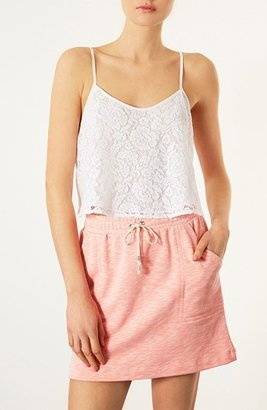 Topshop Lace Crop Camisole White 10