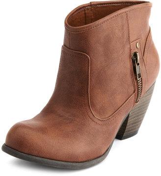 Charlotte Russe Side-Zipper Western Bootie