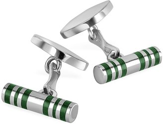 Forzieri Cylinder Sterling Silver Double Sided Cufflinks