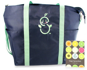 Bed Bath & Beyond Sage Spoonfuls Sage Mommy Tote with Pocket Guide