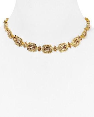 """Carolee Hexagon Collar Necklace, 15.5"""""""