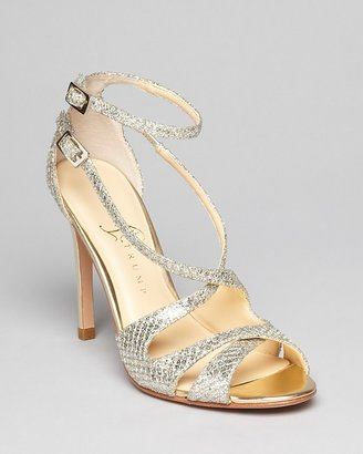 Ivanka Trump Open Toe Glitter Evening Sandals - Helice2 High Heel