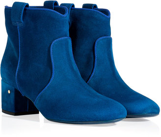Laurence Dacade Electric Blue Suede Ankle Boots