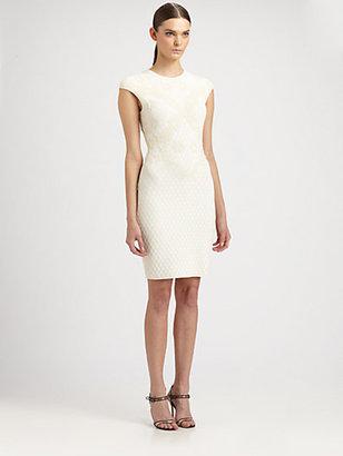 Alexander McQueen Honeycomb Mini Dress