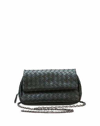 Bottega Veneta Intrecciato Small Chain Crossbody Bag, Black $1,380 thestylecure.com