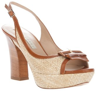 Pura Lopez Buckle sling-back sandal