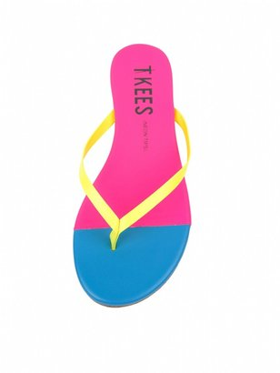 TKEES Neon French Tips Flip Flops