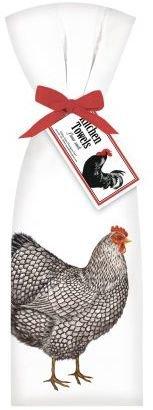 Sur La Table Mary Lake Thompson Chicken & Hen Flour Sack Towels, Set of 2