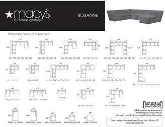 Roxanne Fabric 6-Piece Modular Sectional Sofa (2 Corner Units, 3 Armless Chairs & Ottoman): Custom Colors