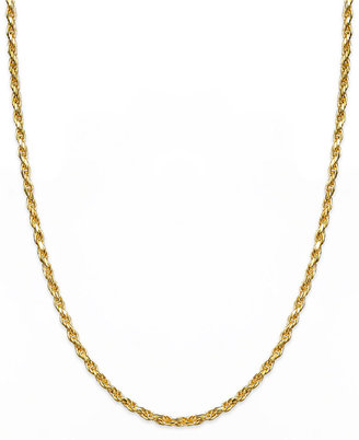 "Bernini Giani 24k Gold over Sterling Silver Necklace, 20"" Rope Chain Necklace"