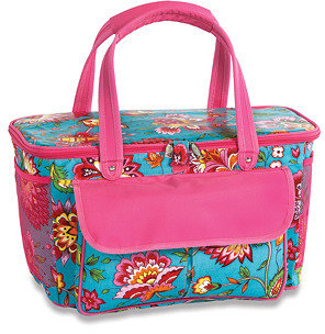 Avanti Cooler Tote, Floral Turquoise