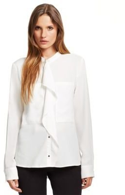 Kenneth Cole NEW YORK Raya Ruffle-Front Blouse