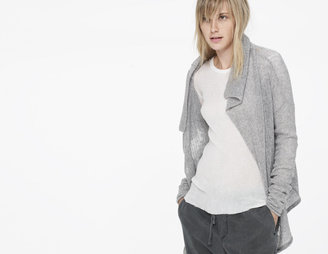 James Perse Cashmere Open Stitch Buttonless Cardigan