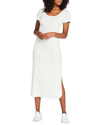 Vitamin A Catalina Short-Sleeve Cotton T-Shirt Midi Dress