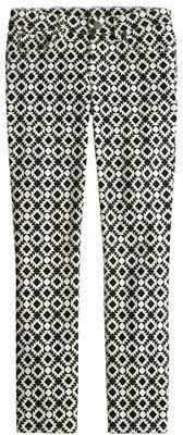 J.Crew Toothpick jean in geometric print
