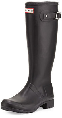 Hunter Boot Original Tour Buckled Welly Boot, Black $150 thestylecure.com