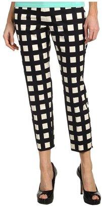 Kate Spade Checkered Davis Capri (Black/Clotted Cream Pop Art Check) - Apparel