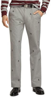 Brooks Brothers Slim Fit Fancy Fleece and Shears Embroidered Pants