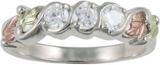 JCPenney Black Hills Gold Jewelry by Coleman Triple Cubic Zirconia Ring