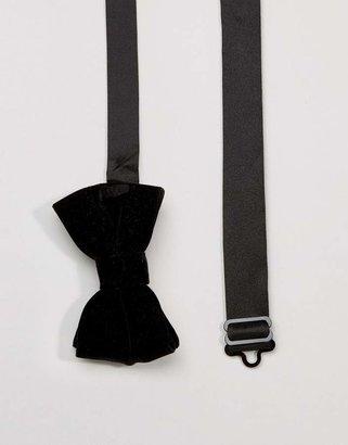 Asos Bow Tie In Velvet