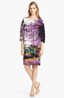 Mary Katrantzou Print Silk Shift Dress