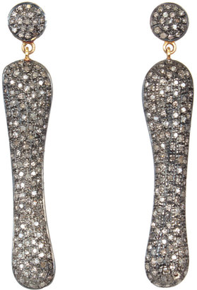 Caviar Dreams Jewelry Collection Long Pave Diamond Earrings
