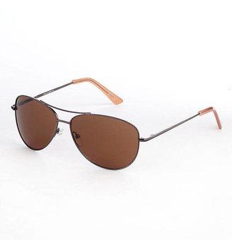 Cole Haan Silvertone Aviator Sunglasses