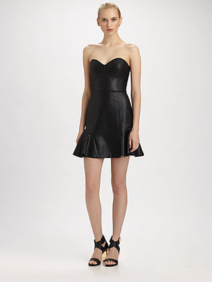 Erin Fetherston ERIN by Faux Leather Bustier Dress